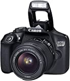 Canon EOS 1300D 18-55mm 3.5-5.6 IS II lens Kit with SanDisk 16GB Class 10 SD card Bundle Offer (Black)
