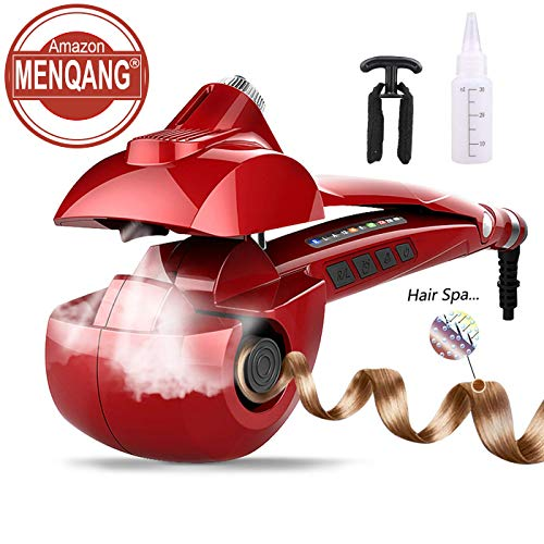 Automatic Hair Steam Curler Ceramic Curling Iron Bar Salon Professional Rotating Styling Steamer Spray Curl Spiral Machine Tool with LED Digital Display
