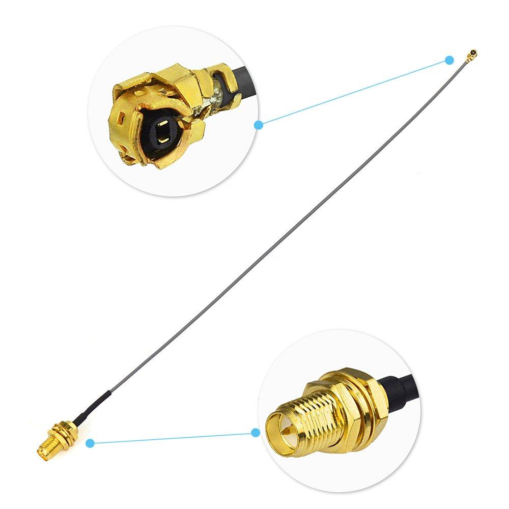Eightwood Wifi Antenna SMA Antenna Mini PCI IPX//u,FL to RP-SMA Female Antenna RG178 30cm Cavo for DJI Phantom 3 Standard PH3 Standard WiFi Antenna Router