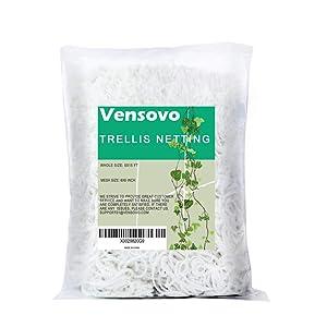 vensovo Garden Heavy Duty Trellis Netting - Polyester Plant Trellis Net for Climbing Plants, Soft and Flexible Support Plants Grow(5 x 15 Ft)
