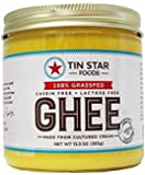Tin Star Foods Cultured Ghee - 100% Grassfed - Casein-free - Lactose-free - Gluten-Free - Whole30 - Non-GMO - Paleo - Made in USA - 13.5 oz (1 jar)