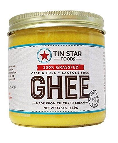 Tin Star Cultured Ghee - 100% Grassfed - Gluten-Free - Non GMO - Paleo - Made in USA - 13.5 oz