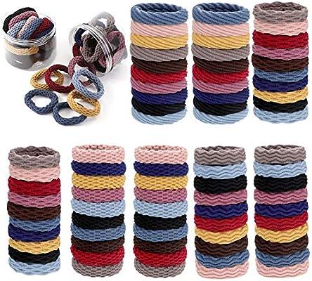 80 paquetes de lazos elásticos de algodón sin costuras, para el ...
