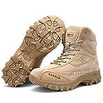 Hommes Militaire Haute Militaire Bottes À Lacets Durable Armée De Combat Chaussures Respirant Tactique Désert Randonnée… 8
