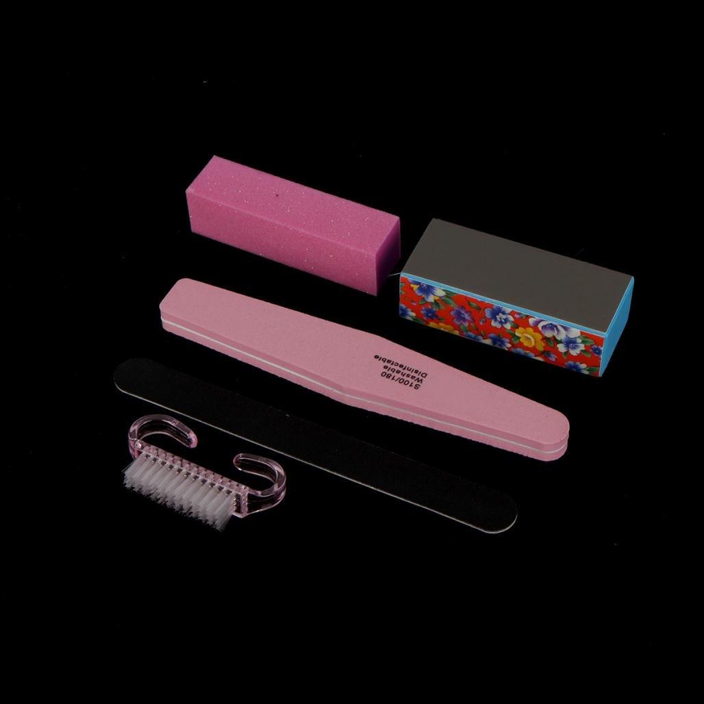 Aribelly 5PCS Nail Art Tools Sanding Files Buffer Block Manicure Pedicure UV Gel Set by Aribelly (Image #2)