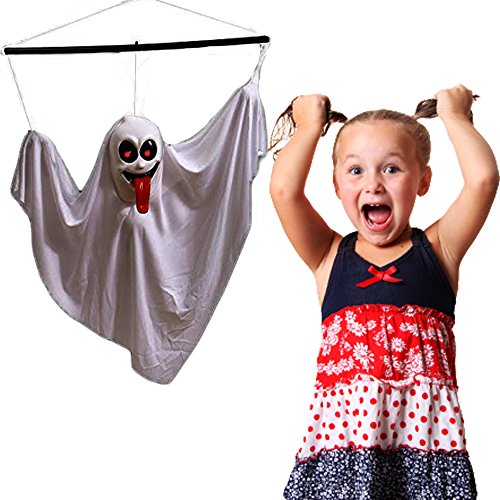 Toy Cubby Halloween Ghost Decoration Horrendous Shacking Noise Making Hanging Skeleton Flashing Eyes - A Must to Try Bloodcurdling Themed Party Ghost. -