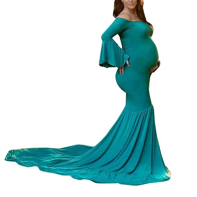 K-youth Vestidos Embarazada Fotografia Vestidos Premama Verano Vestido para Mujeres Embarazadas Tallas Grandes Vestidos