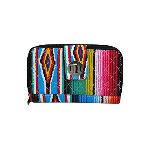 black Serape Twist Wallet Quilted Lock NGIL UqHw1On