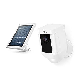 Ring Spotlight Cam Battery (White) + Ring Solar Panel, White