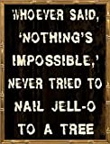 18x24 Nothing Impossible by Stimson, Diane: Gold Bamboo DS-RC-249A