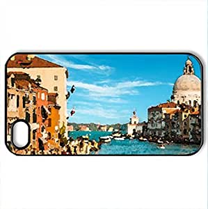 Venice - Case Cover for iPhone 4 and 4s (Medieval Series, Watercolor style, Black)