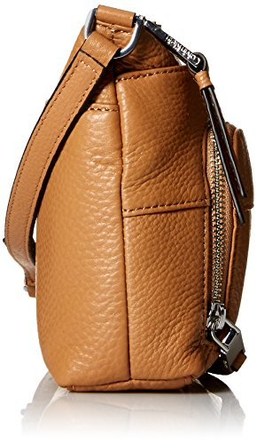 cream Calvin Pebble Zip Crossbody Buff Leather Top Klein TqqF8cw07
