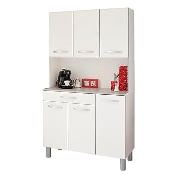 Vorratsschrank küche weiß  Küchenschrank Spice 1 weiß grau 101x185x40 cm Schrank Buffetschrank ...