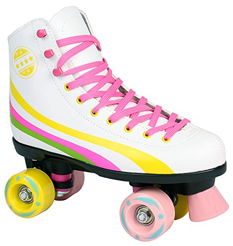 34 35 36 37 38 39 40 Pink wei/ß schwarz Sell-tex Rollschuhe f/ür Kinder Rollerskates NEU Gr 35, schwarz