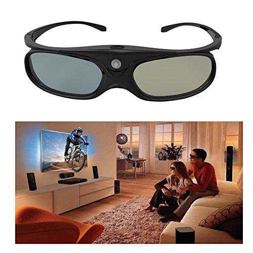 ELEPHAS 144Hz Rechargeable 3D Active Shutter Glasses Eyewear for All DLP-Link 3D Projectors-- Acer, ViewSonic, BenQ Vivitek, Optoma, Panasonic, Dell, Viewsonic etc
