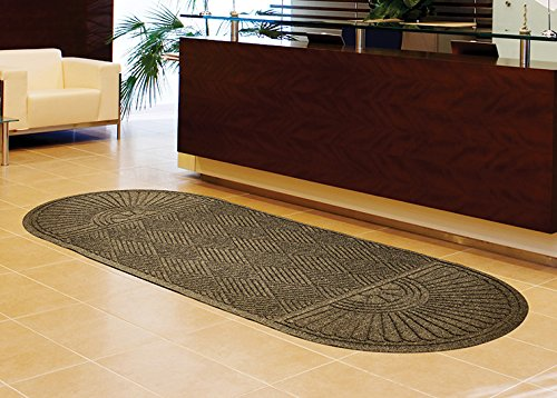Waterhog Eco Grand Premier Half Oval Both Ends Southern Pine 4' x 12.6' Floor Mat ()
