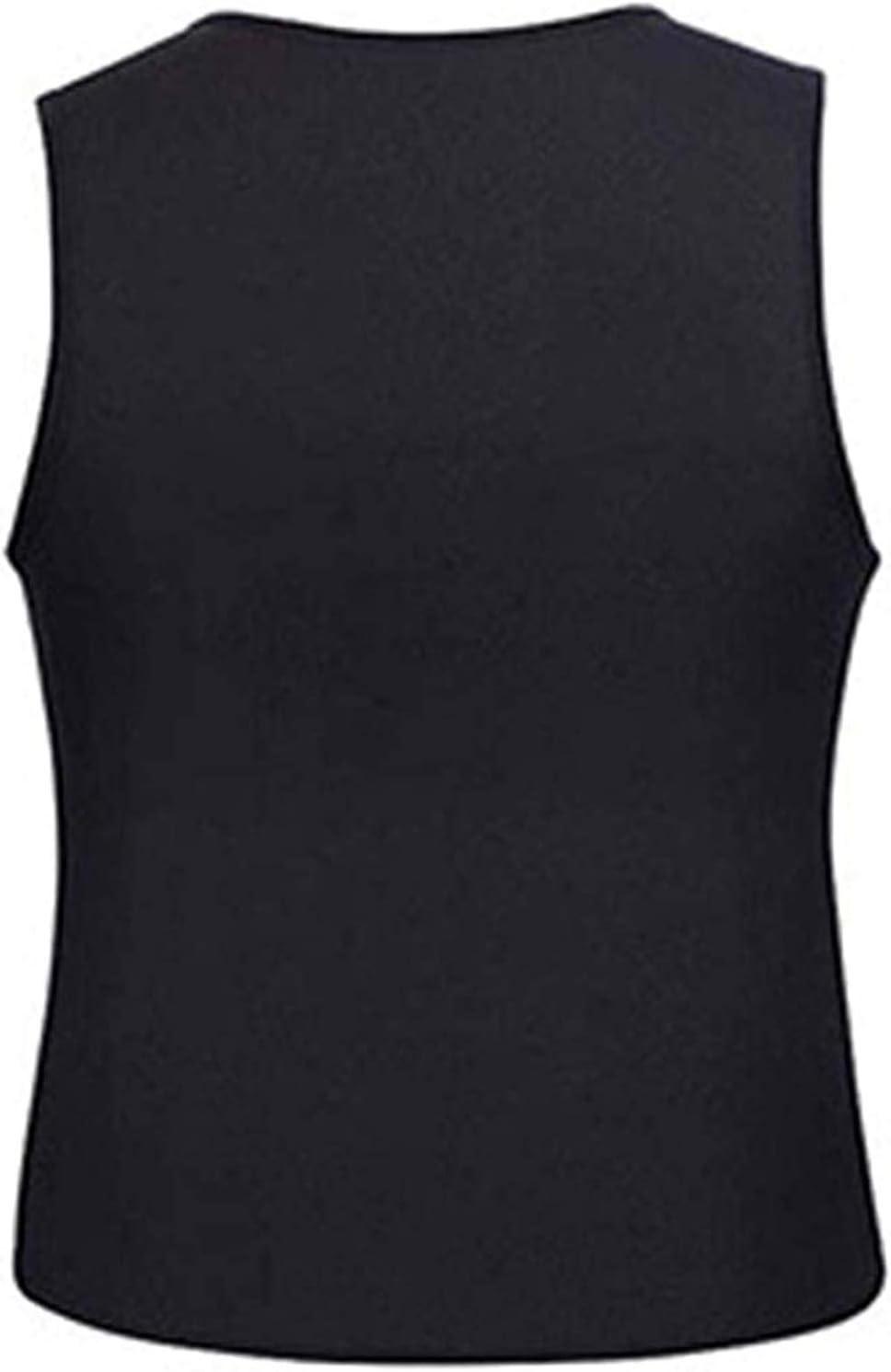 CRXL shop-Heizdecke M/änner Korsett Shirt Body Shaper Gym Gewichtsverlust Hot Neopren Sauna Taille Trainer Rei/ßverschluss Weste Sauna Ultra Sweat Abnehmen Weightloss Tank Top Trainingsanzug Shirt