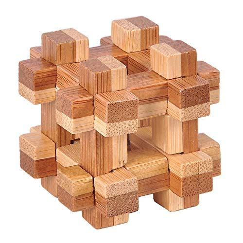 - V-HOUE IQ Learning Toys Design IQ Brain Teaser Wooden Interlocking Burr 3D Wood Puzzles Game Toy Intellectual Learning Educational for Adults Kids