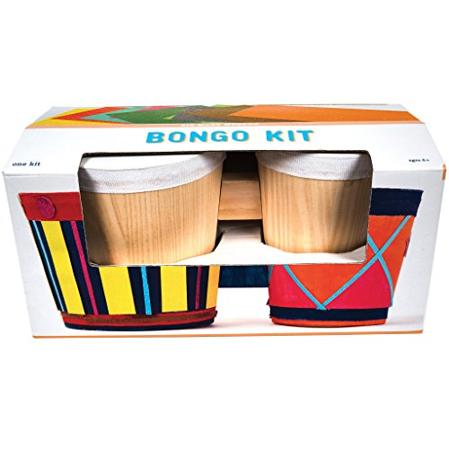 Kid Made Modern Bongo Craft Kit - Bongo Drum For Kids Art and Music Project