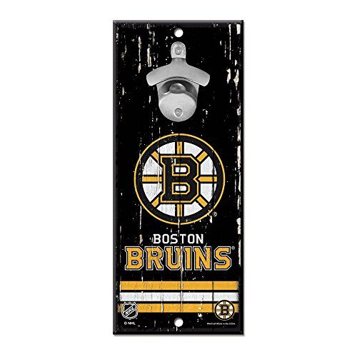 WinCraft Boston Bruins Wooden Wall Mounted Bottle Opener ()