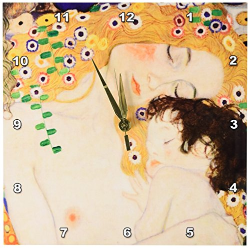 Switch Covers Age Light (3dRose dpp_157653_1 Mother and Child by Gustav Klimt-1905-Detail from The Three Ages of Woman-Mom and Baby Love-Wall Clock, 10 by 10-Inch)