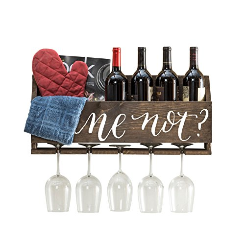 del Hutson Designs Le Luxe Wine Rack (Wine Not? - Dark) by del Hutson Designs