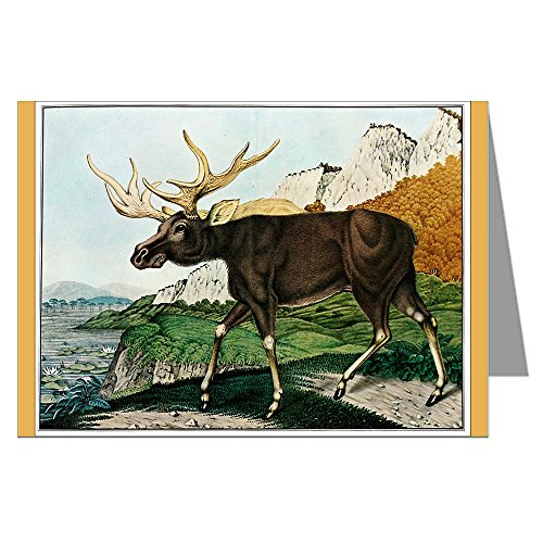 single-greeting-card-of-an-elk-with-a-woodland-backdrop-by-aloys-zotl-c1831