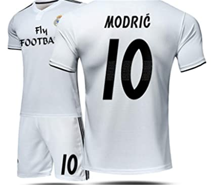 buy popular 0e722 c9132 LISIMKE Real Madrid Home Luka Modric #10 Jersey 2018/2019 ...
