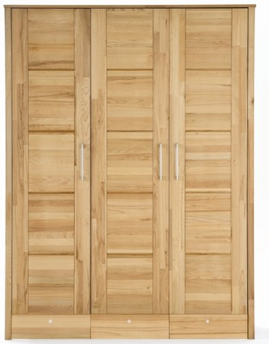 8-8-7-2161: Schlafzimmerprogramm AAS - Kernbuche geölt - schöner Kleiderschrank mit Schubladen - Schlafzimmer-Schrank - 156 cm breit