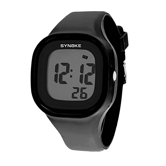 Niños Niñas Reloj de verano Jelly Display LED digital multifunción exterior impermeable Relojes deportivos Negro: Amazon.es: Relojes