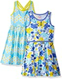 Nannette Little Girls' 2 Pack Knit Dresses, Aqua, 6