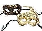 ACCmall Couple Mask Steampunk Half Face Goddess Venetian Masquerade Mask