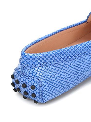 Tod's Women's XXW00G00010JIPU419 Light Blue Leather Loafers C4djczAd