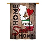 Cheap State California Home Sweet Home Vertical House Large Outdoor Decoration Flag 28″ x 40″