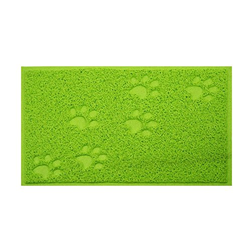 Wicemoon PVC Rectangular Cat Paw Litter Mat Pet Pad Waterproof Anti-skid Car Mats Pet Supplies
