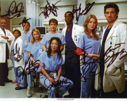 Grey's Anatomy Cast with Katherine Heigl Signed Autographed 8 X 10 Reprint Photo - (Mint Condition) Katherine Heigl Signed