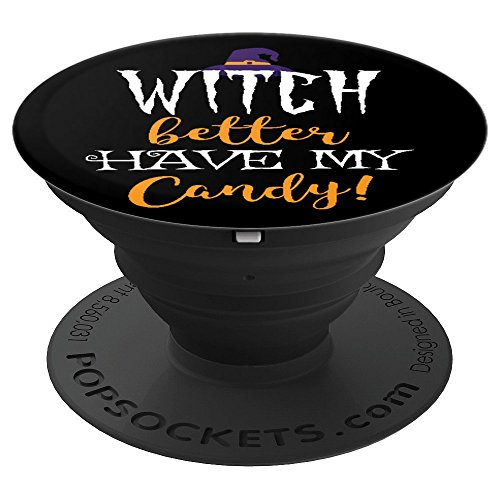 (Funny Witch Candy Trick or Treat Joke Halloween - PopSockets Grip and Stand for Phones and)