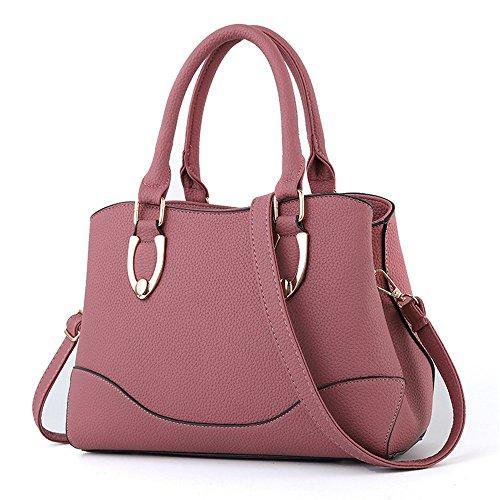 GWQGZ Bolso De Señora Con Bolso De Satén A La Moda Naranja Pink