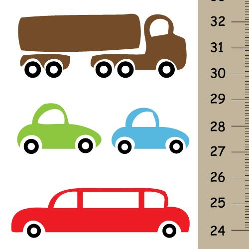 Personalized Cars Growth Chart for Boys, Boys Bedroom Wall Decor with Cars, Nursery Canvas Height Chart Wall Hanging (Growth Chart Cars compare prices)