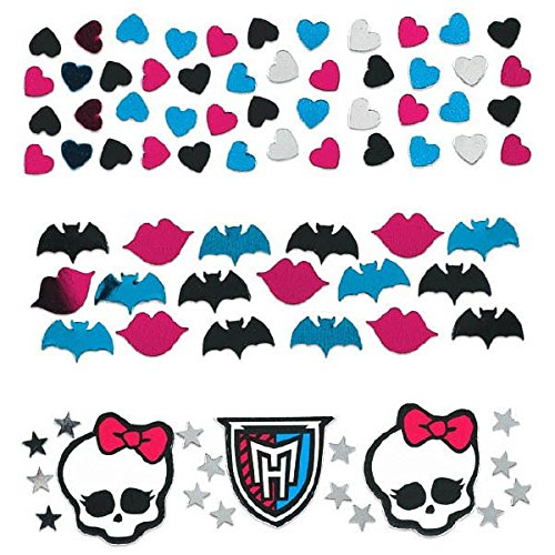 Freaky Fab Monster High Birthday Party Confetti Mix Decoration (1 Piece), Multi Color, 1.2 oz.. -