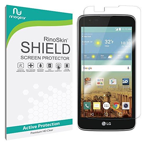 LG K7 / LG Tribute 5 Screen Protector [Military-Grade] RinoGear Premium HD Invisible Clear Shield Anti-Bubble