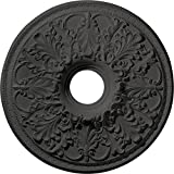 Ekena Millwork CM23ASSGS 23 7/8'' OD x 4'' ID x 2 1/8'' P Ashley Ceiling Medallion fits Canopies up to 4 3/4'', Steel Gray