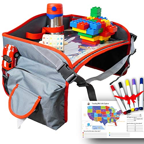 Kids Car Seat Travel Tray, Play Tray, Toddler Travel Tray 16.5 x 13.9 by Little Explorer (Best Rated Child Car Seats 2019)