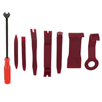 Homyl 8Pcs Car Auto Audio Door Moulding Trim Clip Panel Removal Tool Kit Red