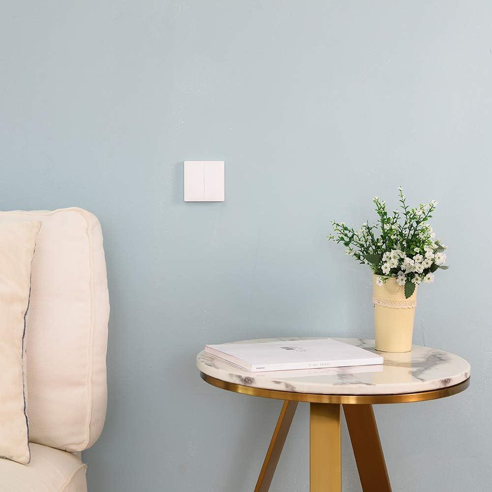 Blusea Aqara Wandschalter Intelligente T/ürklingel Lichtsteuerschalter Wifi 2,4 Ghz Drahtlose Fernbedienung Home Kit von Mi Home App Einzelschl/üssel