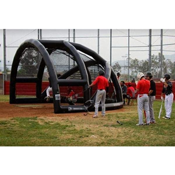 Amazon Com Air Tight Inflatable Baseball Softball Batting Pitching Backstop 16 X12 X10 Sports Outdoors