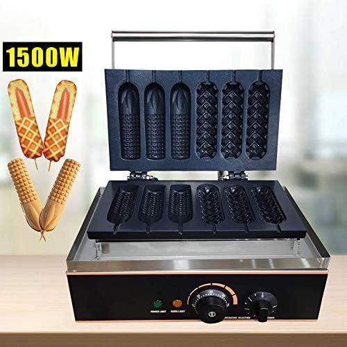 Machine à gaufres 6 trous anti-adhésive
