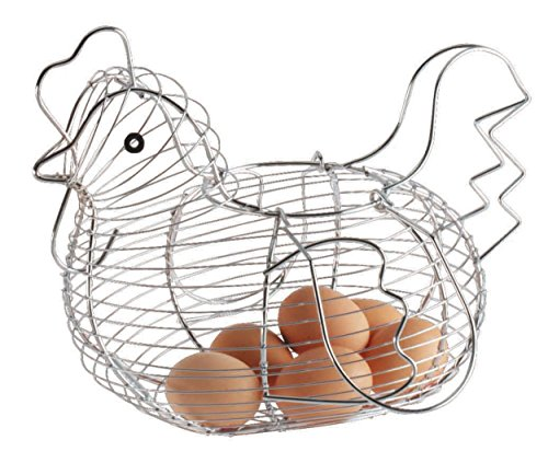 Kitchencraft Chrome Plated Wire Large Chicken Basket, 30x25cm, Tagged