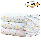 Baby Kid Mattress Waterproof Changing Pad Diapering Sheet Protector Menstrual Pads Pack of 3 (L (27.5x41.3)Inch)