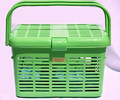 Green Easy Open Wide Top Load Door Pet Cat Carriers Preassembled 16x11.63x10.25 from Sheraton Luxuries
